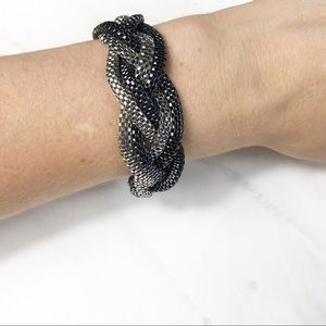 Express Metallic Braided Bracelet